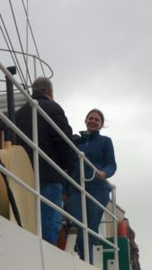 Cassandra Morris onboard ST Yelta.