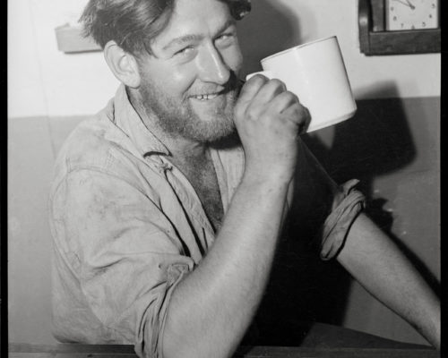 Sailor with drink