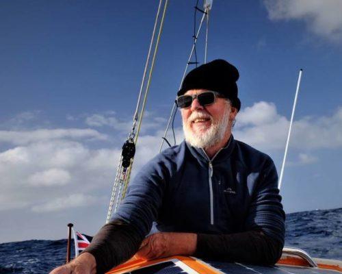 Mark Sinclair on his yacht